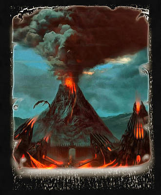 Digital Art - Smoke Over Mount Doom by Mario Carini