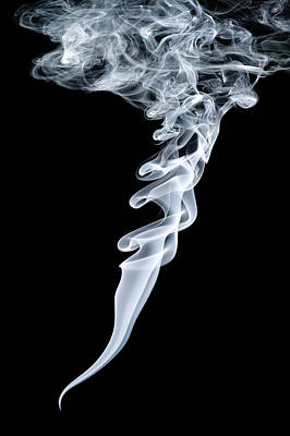 Smoke Patterns Art Print by Paul Rapson