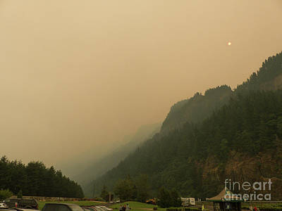 Photograph - Smoke Pollution In The Columbia Gorge by Rod Jones