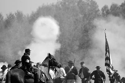 Civil War Cannon Balls Photograph - Smoke Ring by Elaine Burlew