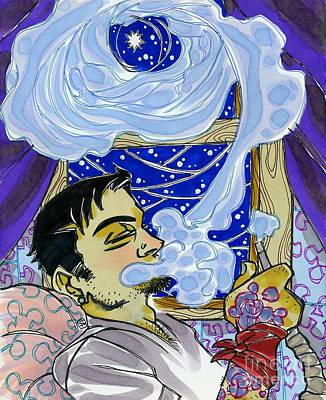 Smoke Ringed Stars Art Print