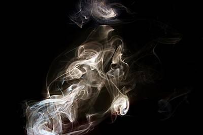 Photograph - Smoke Swirls by Karen Silvestri