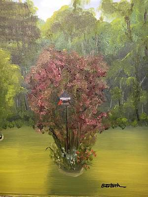 Painting - Smoke Tree Garden by David Bartsch
