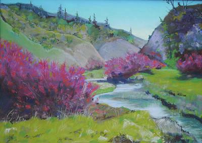 Smoke Trees By The Creek Art Print by Dan Scannell