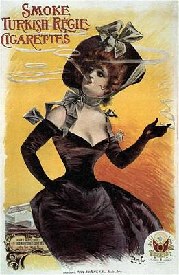 Mixed Media - Smoke Turkish Regie Cigarettes - Tobacco - Vintage Advertising Poster by Studio Grafiikka