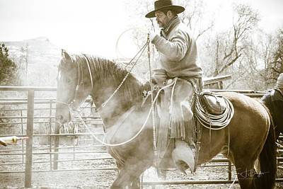 Working Cowboy Photograph - Smoke by Twna Douglas