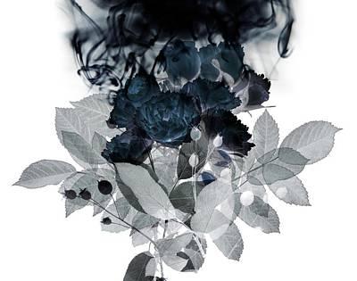 Inverted Digital Art - Smoke Without Fire IIi by Varpu Kronholm