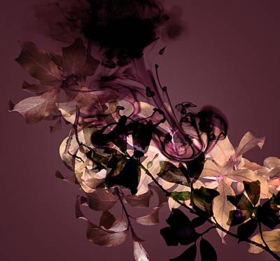Blue Background Digital Art - Smoke Without Fire Vii by Varpu Kronholm