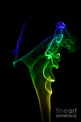 smoke XIV Art Print by Joerg Lingnau