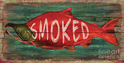 Painting - Smoked Fish by Joe Low