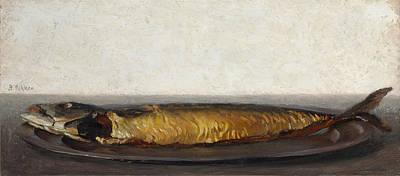 Painting - Smoked Mackerel by Ben Rikken