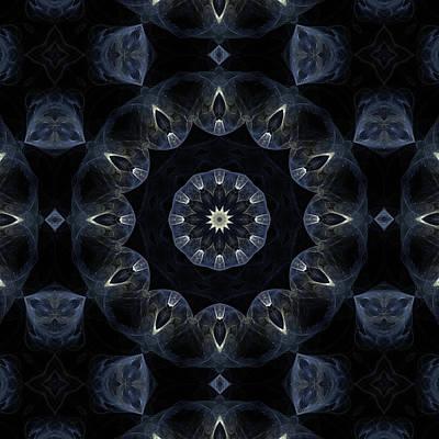 Space Digital Art - Smoked Moon Mandala 7 by Julia Bagryanskaya