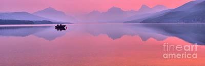 Photograph - Smoked Out On Lake Mcdonald by Adam Jewell