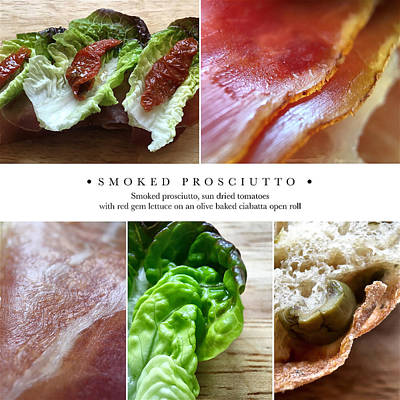 Photograph - Smoked Prosciutto Open Sandwich by ISAW Gallery