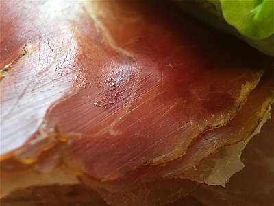 Photograph - Smoked Prosciutto Open Sandwich Prosciutto Ham by ISAW Gallery