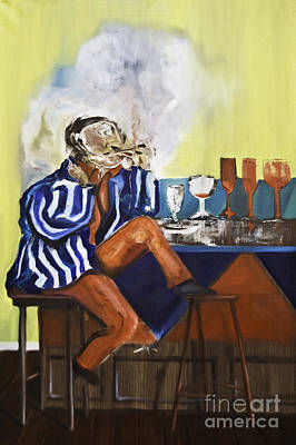 Painting - Smoker by James Lavott