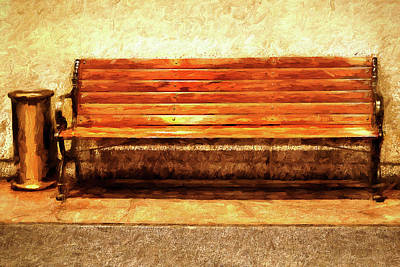 Smoker's Bench Art Print