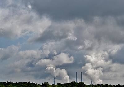 Photograph - Smokestack Clouds by Eileen Brymer
