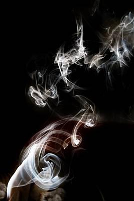 Photograph - Smokey Abstract by Karen Silvestri