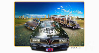 Reynolds Digital Art - Smokey And The Bandit by CoolnessSixtyEightArt