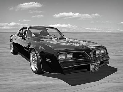 Photograph - Smokey And The Bandit Trans Am In Mono by Gill Billington