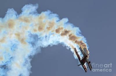 Photograph - Smokey Biplane by Tom Claud