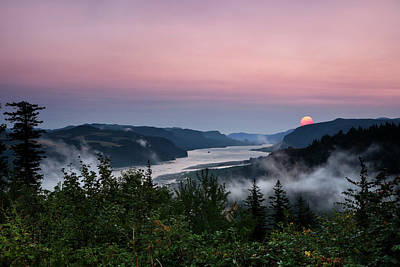 Photograph - Smokey Foggy Columbia River Gorge by Wes and Dotty Weber
