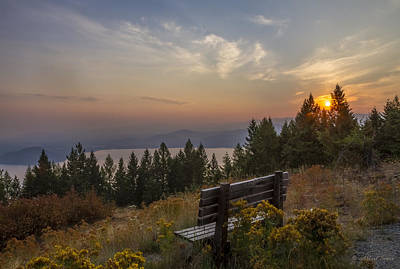 Photograph - Smokey Gold Hill Sunrise by Albert Seger