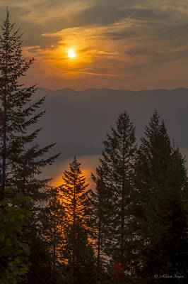 Photograph - Smokey Gold Hill Sunrise 2 by Albert Seger