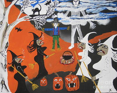 Big Teeth Painting - Smokey Halloween by Jeffrey Koss