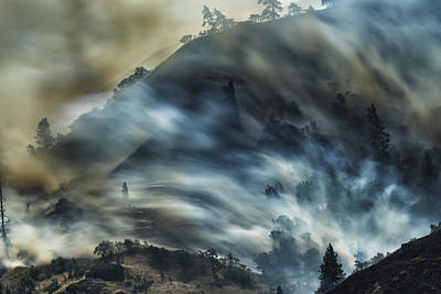 Smokey Hillside Art Print
