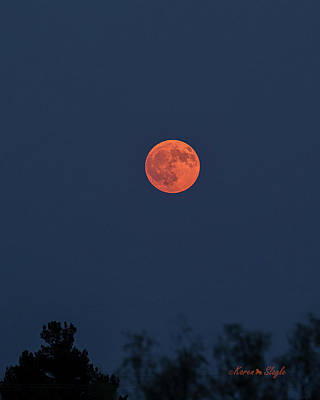 Photograph - Smokey Moon by Karen Slagle