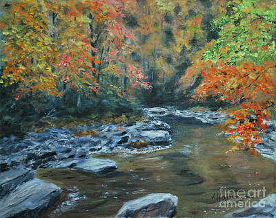 Smokey Mountain Autumn Art Print by Stanton Allaben