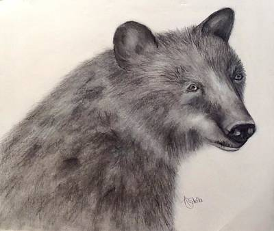Drawing - Smokey Mountain Friend by Annamarie Sidella-Felts
