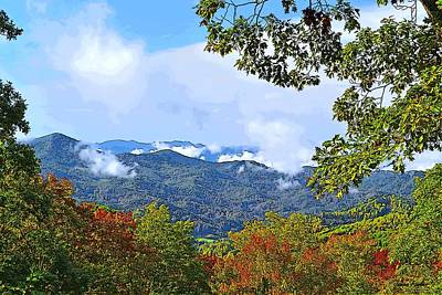 Smokey Mountain Mountain Landscape - A Art Print