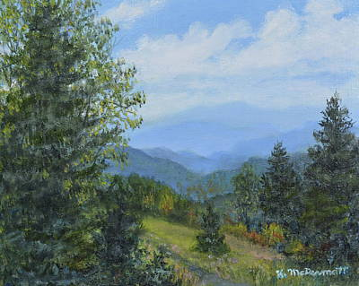 Smokey Mountain Overlook Original by Kathleen McDermott