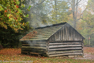Photograph - Smokey Mountain Smoke House by John Greco