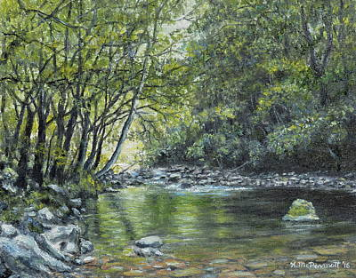 Painting - Smokey Mountain Stream by Kathleen McDermott