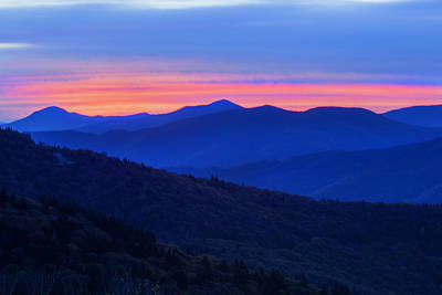 Photograph - Smokey Mountain Sunset by CA  Johnson