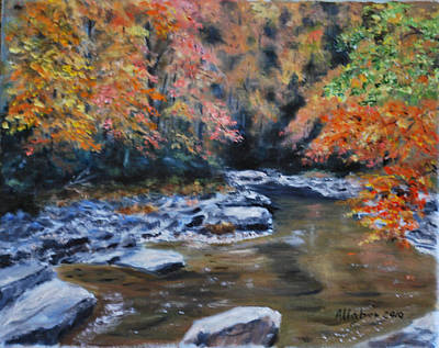 Smokey Mountains Autumn Art Print by Stanton D Allaben