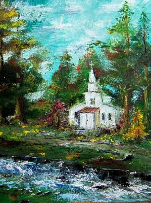Smokey Mountains Church Art Print by Lynda McDonald