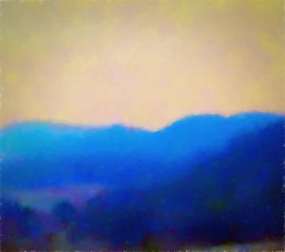 Smokey Mountains Painting Digital Photography Art Print by Debra Lynch