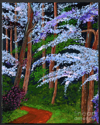 Painting - Smokey Mtn. Trail by Jack Hedges