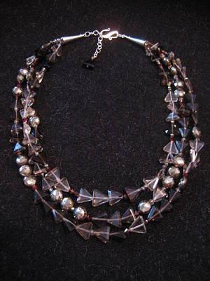 Smokey Quartz Jewelry - Smokey Quartz 'triangle' Pyrite Necklace by Jan Durand