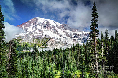 Photograph -  Smokey Rainier by Deborah Klubertanz