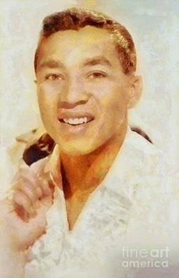 Rock And Roll Royalty-Free and Rights-Managed Images - Smokey Robinson, Music Legend by Sarah Kirk