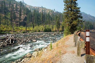 Photograph - Smokey Skies Above Wenatchee River by Tom Cochran