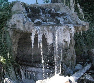 Photograph - Smokey Stoves Frozen Falls by Marie Neder