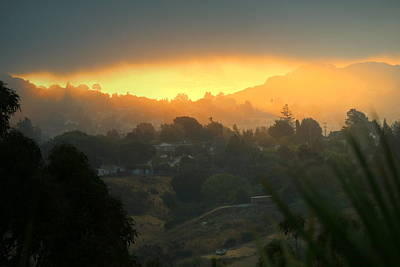 Photograph - Smokey Sunrise In El Sobrante Ca by Joyce Dickens