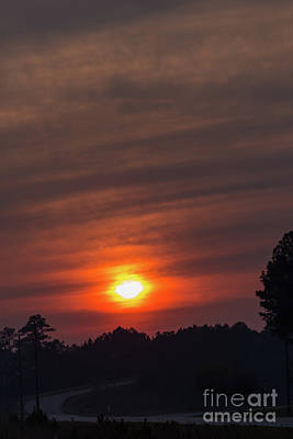 Photograph - Smokey Sunset-2 by Charles Hite